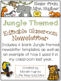 *Freebie* Editable Jungle Themed Classroom Newsletter