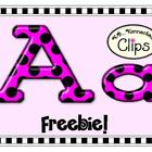 Freebie! Glossy Polka-Dot Alphabet