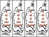 "Free! Halloween Bookmarks ""BOO-tiful Reader"""