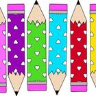 Freebie! Heart Pencils Clip Art  ~CU OK!