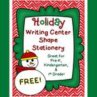 {Freebie!} Holiday Writing Center Shape Stationery
