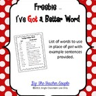 Freebie - I've Got a Better Word