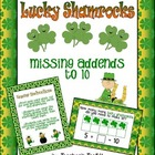{Freebie!} Lucky Shamrocks Missing Addends to 10 Math Station