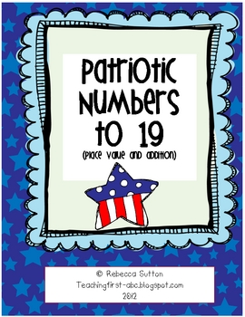 Freebie! Patriotic Numbers