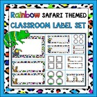 {Freebie} Rainbow Safari Themed Classroom Label Set