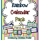 Freebie - Rainbow Striped Calendar Pack
