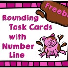 Freebie Rounding Task Cards with Number Line
