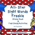 Freebie Sight Word Activity Pack (Word Work) Kindergarten 1st