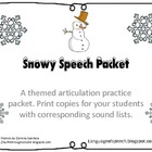 Freebie- Snowy Speech Articulation Packet