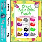 {Freebie} Splat Color Words Posters and Splat Game