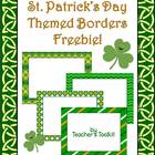 {Freebie} St. Patrick's Day Themed Borders Clip Art Commer