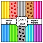 {Freebie} Stripes and Spots Digital Background Papers