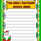 Freebie! The Night I Borrowed Santa's Sleigh - Writing Prompt