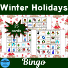Freebie Winter Holidays Bingo 25 Different Cards
