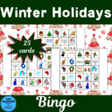 Winter Holidays Bingo 25 Different Cards