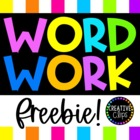 Freebie {Word Work Activities}