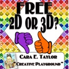 Freebie~2D or 3D?  A Shape Flipbook