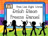Freeze Dance First Sight Words - Disco