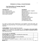 French 3 Final Countdown