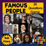 Famous Francophones, French Adjectives Review Game and Res