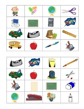French  Back To School Bingo Game