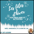 French Chrismtas, Hanukkah, and New Year Vocabulary and Ac