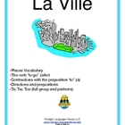 French City Buildings Activities:  Vocab, Aller &amp; Directions