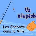 French City PLaces Vocabulary Game (Va a la peche-Go Fish)