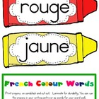 French Colour (color) Words {crayon design}