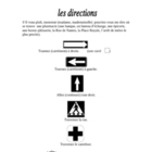 French Directions Vocabulary and Exercise