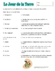 French Earth Day Worksheet:  Le Jour de la Terre