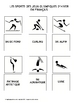 French Flash Cards:  Winter Olympic Sports