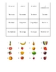 French Fruit Vocabulary Activities - Magic Squares