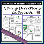 French – Giving Directions – vocabulary and oral activity