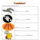 French Halloween Worksheets for Kids