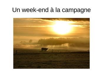 French II A la campagne Vocabulary