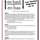 "French ""IR Verb"" Partner Activities (Speak, Read, Listen, Write)"