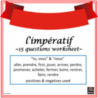 French – Impératif - worksheet and answer key
