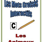 French Interactive Crossword Puzzle: Animal Vocabulary
