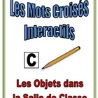 French Interactive Crossword Puzzle: Classroom Objects
