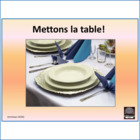 French – Mettons la table – Vocabulary for setting the tab