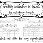 French Monthly Calendars / calendriers français