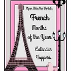 French Months of the Year Calendar Toppers - Freebie