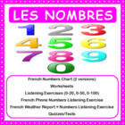 French Numbers (Les nombres) - Numbers Chart + Worksheet +