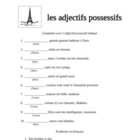 French Possessive Adjective Practice Pages
