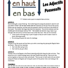 French Possessive Adjectives Activities (Speak, Read, Listen)