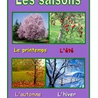 French Poster  about the seasons .