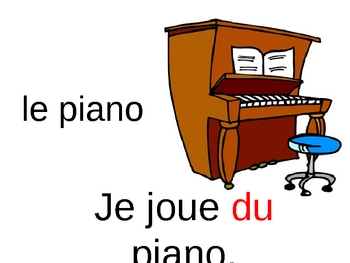 French PowerPoint:  Jouer a vs. Jouer de