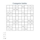 French Pronouns Sudoku