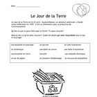 French Recycling Worksheet for Earth Day